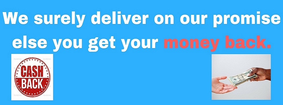 Enjoy our money back guarantee if we do not deliver - T&C applies